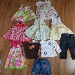 Bundle of girl clothes 10 pcs size 12 months